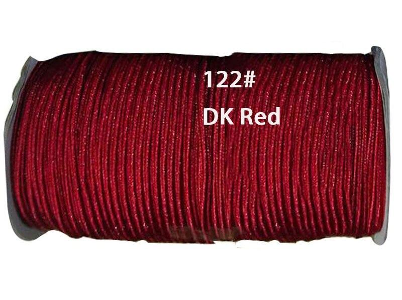 Cable de nailon de línea plana DK rojo de 4mm + rollo de joyas de 130m accesorios hilo de cuerda de macramé pulsera Cadena de abalorios