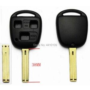 3B Blank Key Shell Remote Car Key Case For Lexus GX470 RX350 ES300 RX300 RX400h 38mm Uncut Blade