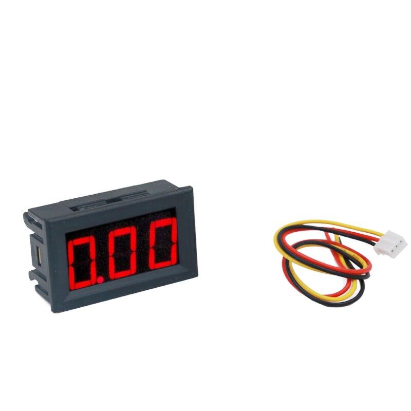 Voltmètre numérique 0-100V, 0.56 pouces, 3 Bits, affichage LED rouge avec trois fils, 20% de réduction, offre spéciale