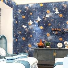 Children Room Wall Sticker 3D Murals Star Planet Universe Space Wallpaper Star Sky Ceiling Wallpaper Childrens Room