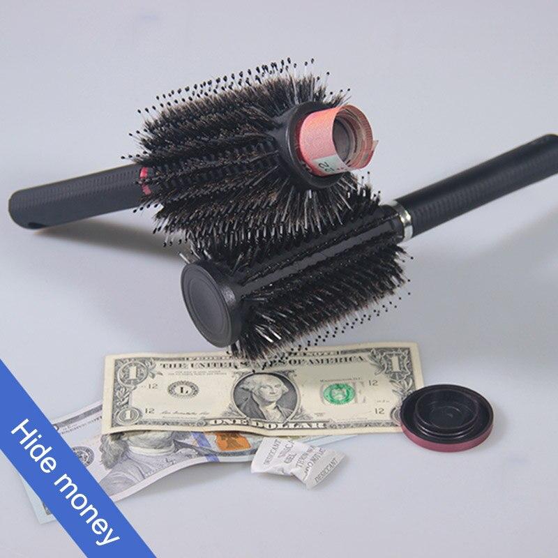 Скрытый сейфы щетка для волос стиль секретный сейф для скрытия денег, ювелирных изделий или ценных вещей с сдержанной секретной съемной крышкой