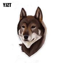 YJZT 11CM*18.5CM Personality Animal Dog PVC Decal Car Sticker Car Accessories 5-1953