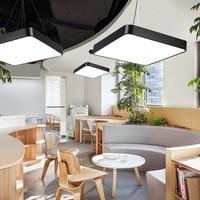 Modern Style Square Slab Rectangle LED Office Ceiling Lamp Pendant Lamp Bedroom Balcony Living Room Lamp Creative study Lighting