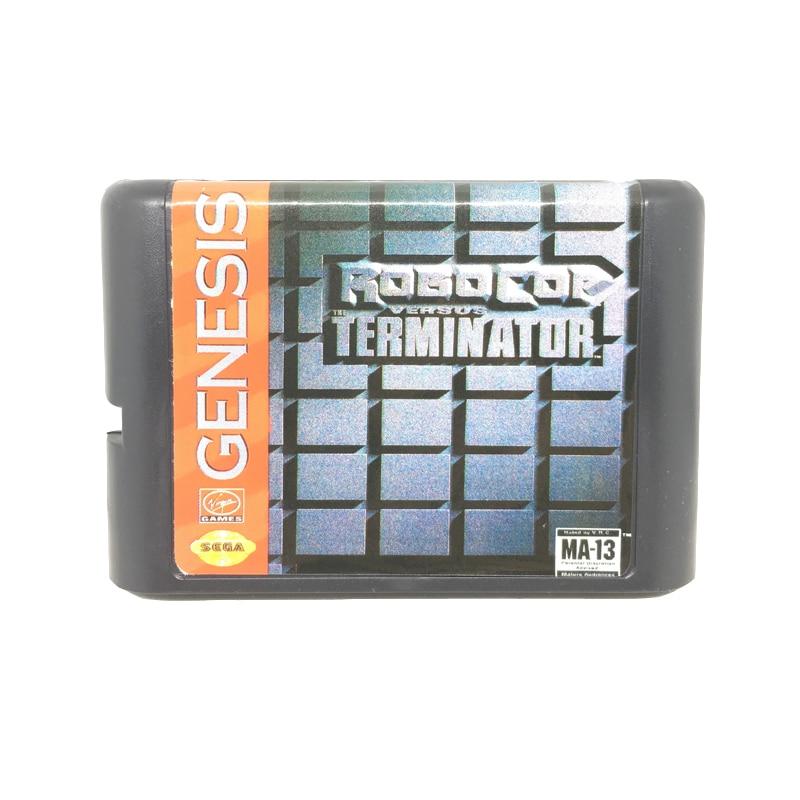 Robocop Gegenüber Terminator 16 bit Spiel Karte Spiel Patrone für Sega Mega Drive/Genesis System EUR/USA Shell
