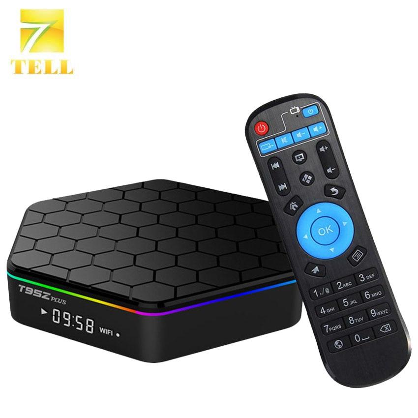 T95z plus 3gb 32gb opcional android 7.1, caixa de tv amlogic s912 64bit octa core bluetooth dual wifi gigabit reprodutor de mídia inteligente lan