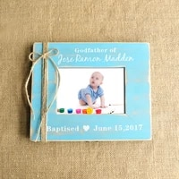 personalized picture frame gift for godfather baptism gift baby photo frame gift for him
