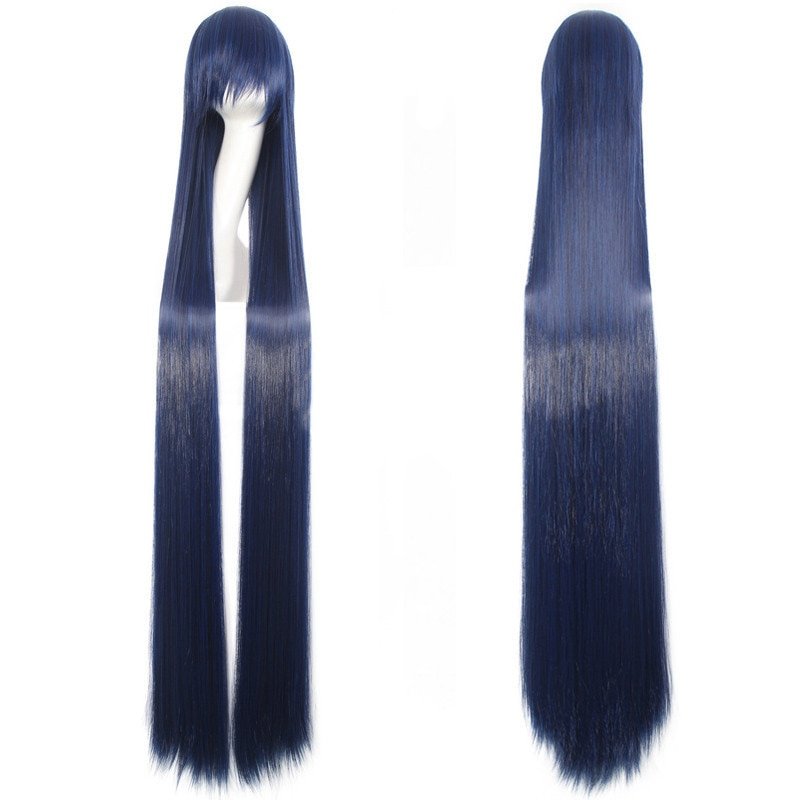 150CM Long Straight Wigs women Fiber Hairpiece Heat Resistant Synthetic Hair anime Cosplay Wig Universal Costume Accessories