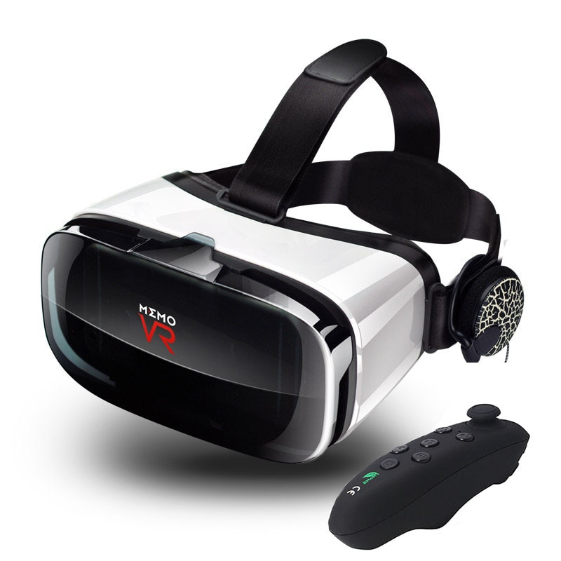 "2019 VR Box 3D gafas de auriculares de realidad Virtual para 4,7-6,2 ""teléfono inteligente Video con controlador de juego Gamepad Lentes Anti-mareo"