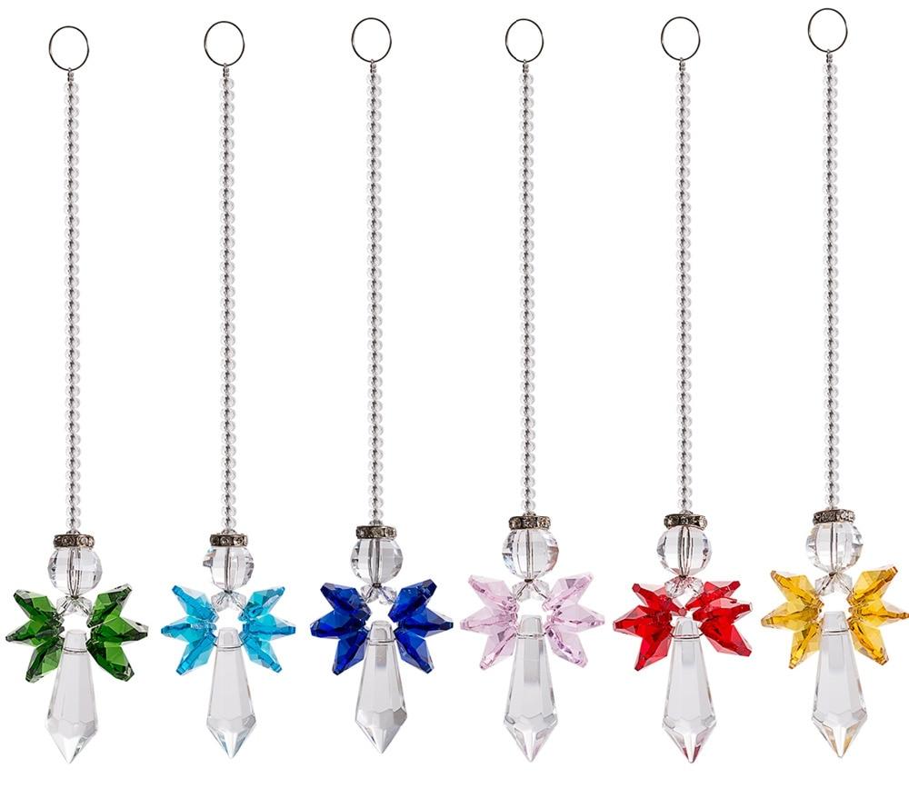 Decoración De colores para el hogar, candelabro bonito, piezas De Cristal, prismas,...