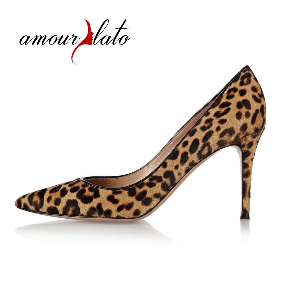 Amourplato, zapatos de fiesta con estampado Animal para mujer, zapatos de fiesta con punta en pico, zapatos de fiesta diseño de leopardo, zapatos de cuero auténtico, accesorio de noche, zapatos