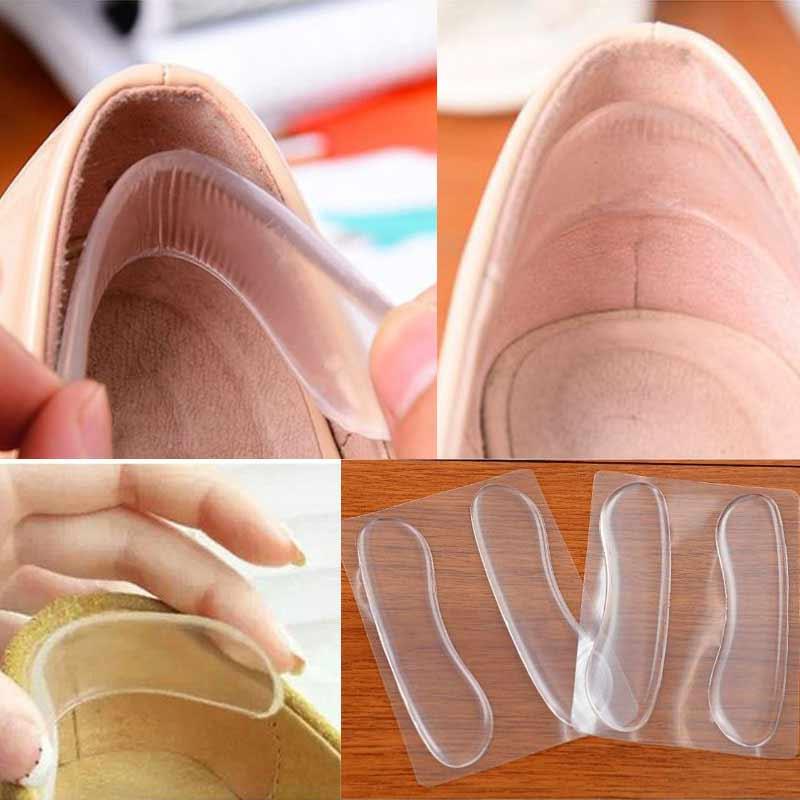 Palmilhas de silicone para sapatos anti deslizamento almofadas gel protetor de cuidados com os pés para o calcanhar anti fricção almofadas almofadas sapatos palmilhas inserção