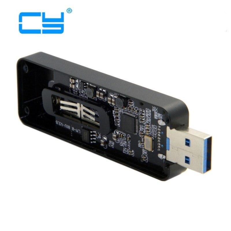 Adaptador retráctil de 42mm NGFF M2 b-key o b-m-key SSD para USB 3,0 externo, adaptador de PCBA, disco Flash tipo negro