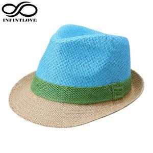 LUCKYLIANJI Fashion Chapeu Candy Color Fluorescence Men Women Fedora Jazz Cap Beach Summer Casual  Sun Panama Hat(One Size:57cm)