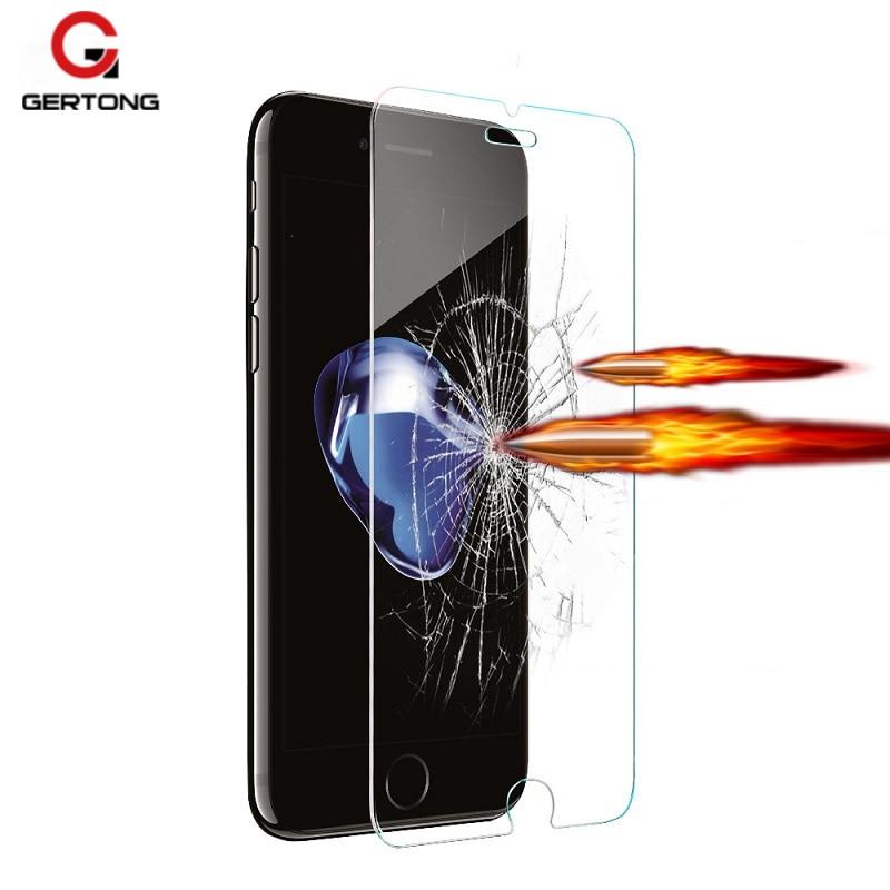Premium protector vidrio templado para Apple para iPhone Xr Xs Max 8 7 6 6S Plus 5S 5 S 5C SE 4 4S funda protectora de pantalla película