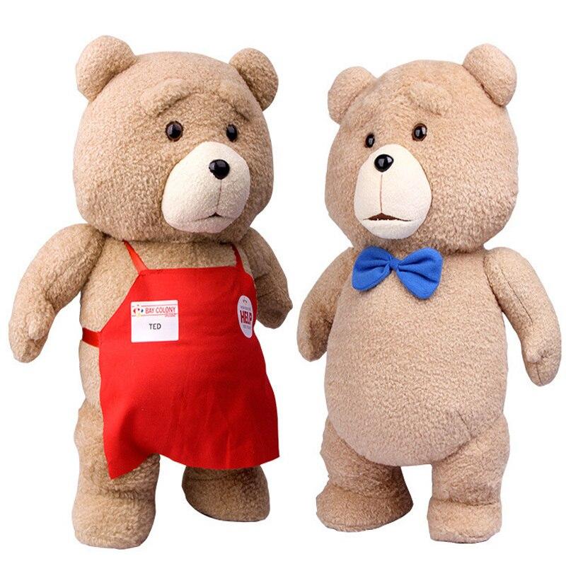 Osito de peluche de la película de dibujos animados Ted2, juguetes de peluche TED, muñecas de relleno de animales suaves, juguete clásico de 46CM 18 , regalo para niños
