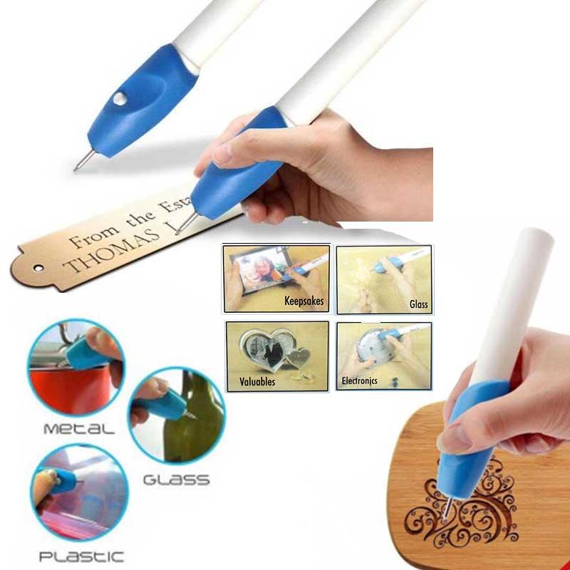 Mini pluma de grabado eléctrico DIY, herramienta de tallado manual, marca de cincel de Metal, grabador de madera de vidrio y plástico, pluma automática tallada