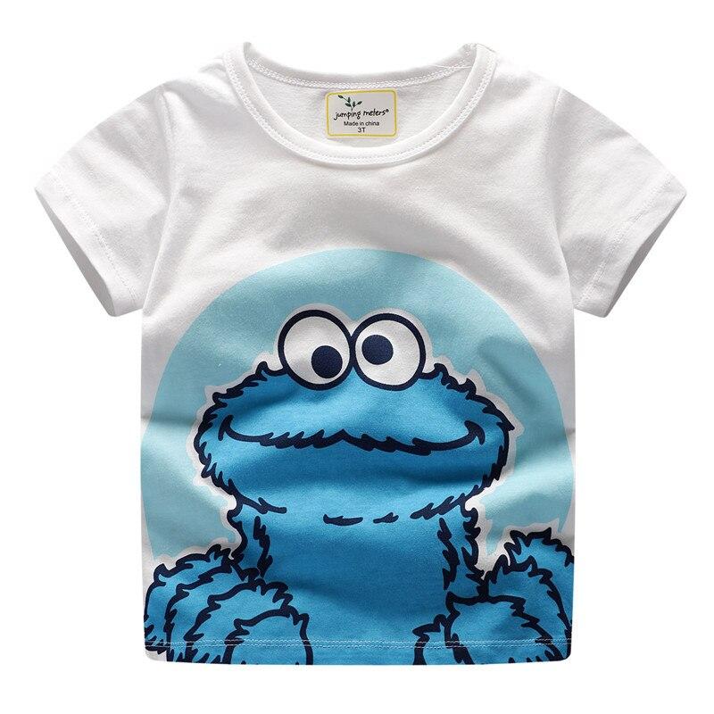 Детские футболки для мальчиков, детская одежда, хлопковая футболка с коротким рукавом и мультяшным принтом для мальчиков, топы, футболки, ру...