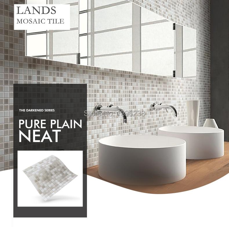 Gray Hot Melt Glass Mosaic Wall tiles kitchen backsplash Bath shower backdrop ceiling home artdecor sticker,Free shipping,LSHM03