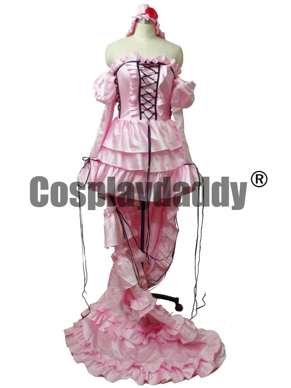 Chobits chii pink dress cosplay lolita traje