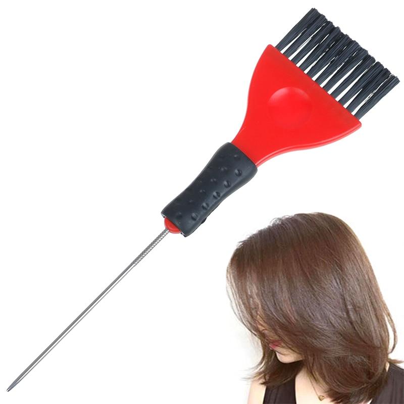 1PC estilismo DIY herramientas de plástico peine para teñido del cabello salón tintado cepillo Barbero para colorear pincel para resaltar