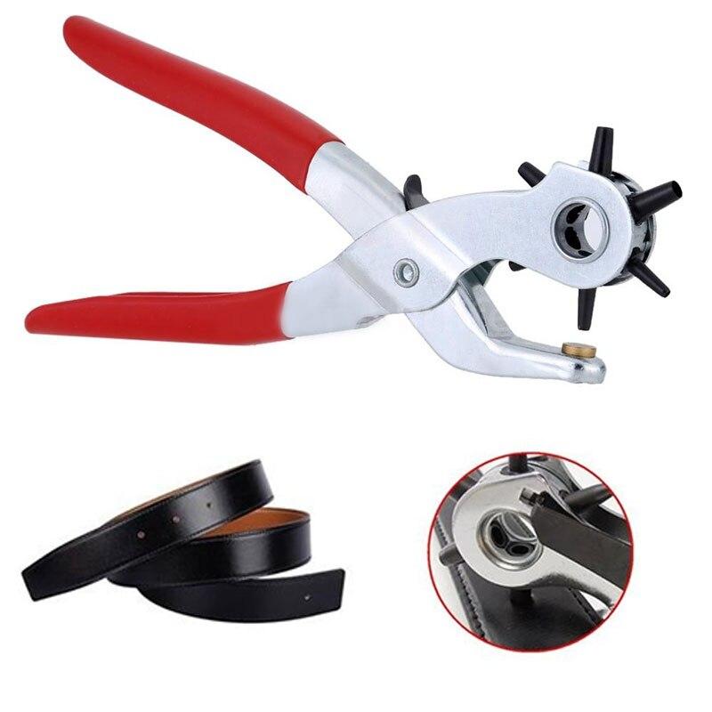 ¡Novedad de 2020! Perforadora de 9 pulgadas, alicates de perforación, herramienta perforadora de agujero redondo, perforadora de agujero para correas, tarjetas, correa de reloj
