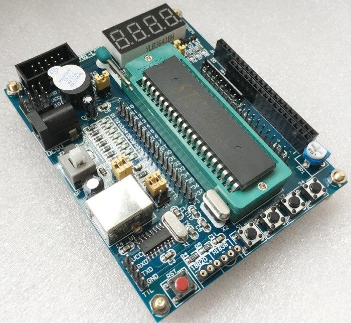 Frete grátis 51 mcu placa de sistema mínimo usb 51 microcontrolador placa desenvolvimento
