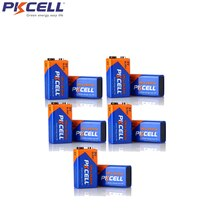 10Pcs PKCEL 6LR61 9V Alkaline Battery 1604A 6AM6 MN1604 522 Dry Batteries For Smoke detector Gas sto