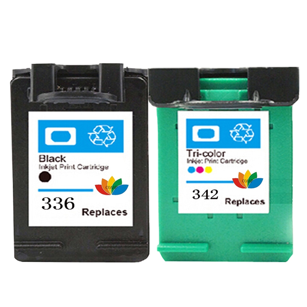 2pk متوافق HP 336 342 C9362E C9361E طابعة خراطيش الحبر ل hp Deskjet 5440/ PSC 1510 2710 2575 C3180 C4180 2570 7800