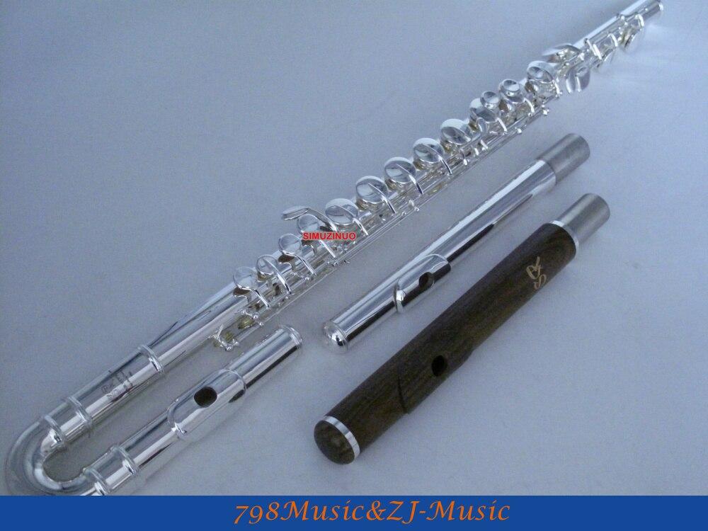 Key-banhado a Prata-e Headjoint com Estojo Professional Alto Flute-g Verde Sândalo Headjoint-3