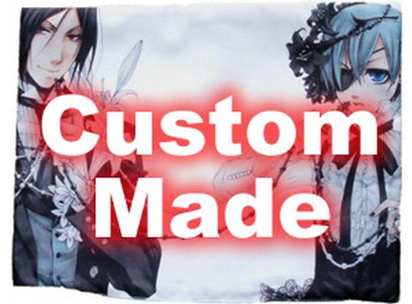 De octubre nuevo textil para el hogar hecho a medida Anime/Manga DIY de un solo lado/doble Lado de poliéster/Micro-gamuza/ 2WT 2Way funda de almohada 60x30 cm