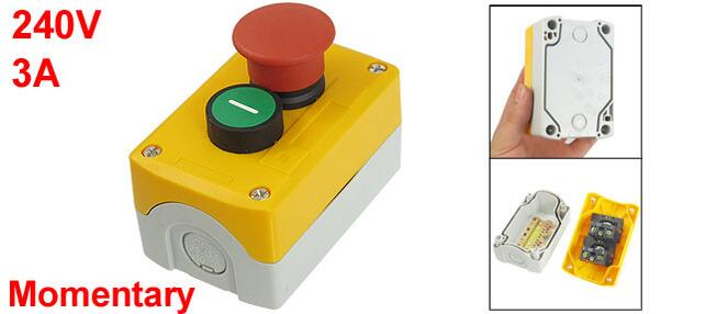 240 V 3A SPST NC seta roja NO verde Control plano momentáneo interruptor de botón