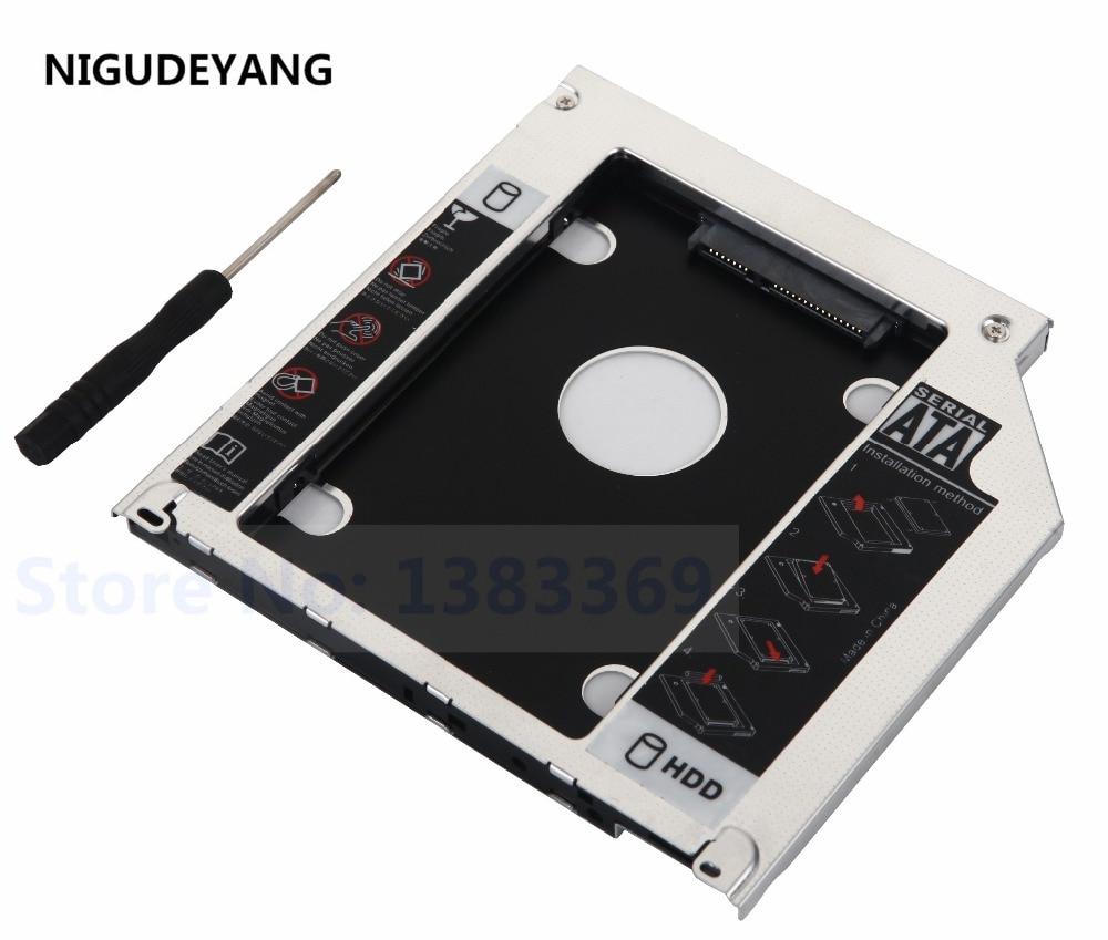 "2nd HDD SSD Caddy 9,5mm segundo SATA 2,5 ""caja de disco duro para Apple MacBook Pro A1297 A1278 A1286"