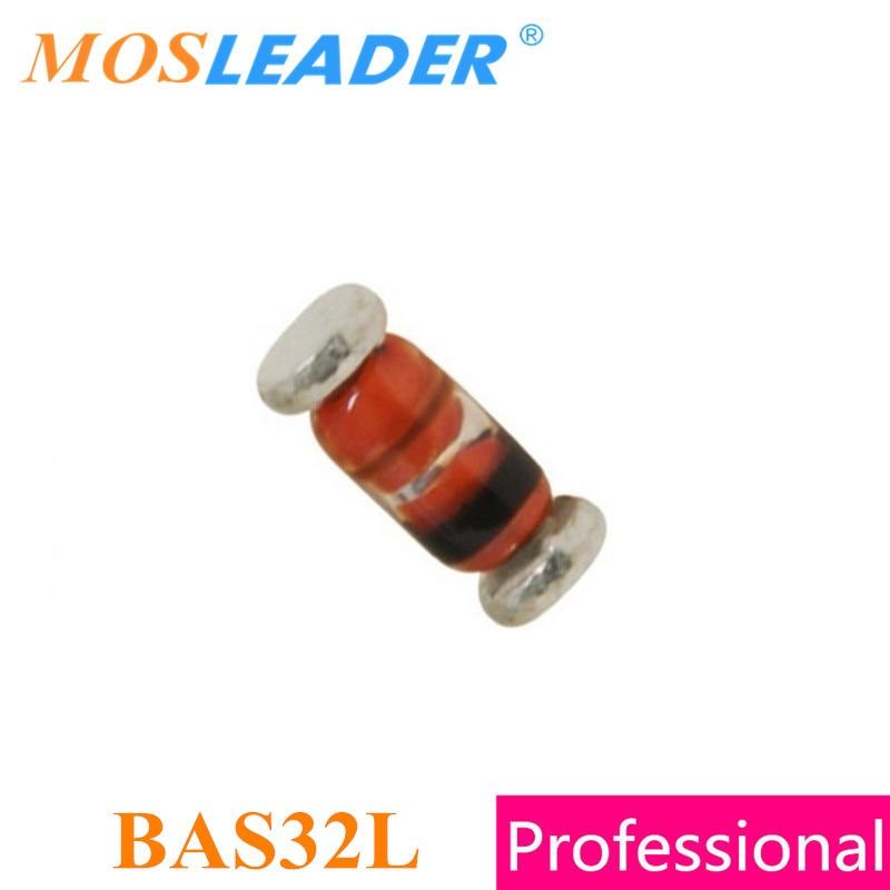 Mosleader BAS32L LL34 2500PCS BAS32 200mA 0.2A 75V SMD SOD80C Glass package High quality