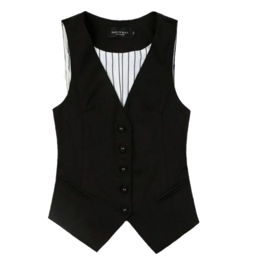 Traje corto de talla grande para mujer, 5XL, Chaleco Ajustado, chaleco, Blazer de una sola botonadura sin mangas con cuello en V, chaqueta de lana
