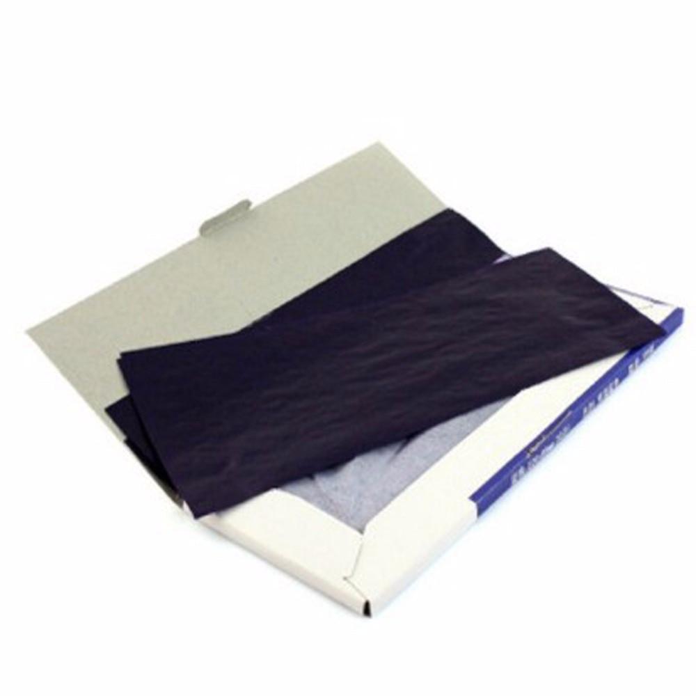 1 упаковка тонкая длинная полка 38K двухсторонняя синяя углеродная бумага для