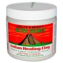 Argile de traitement indienne aztèque américaine-1 livre/masque dargile dieu naturelle pour nettoyer les pores/454g