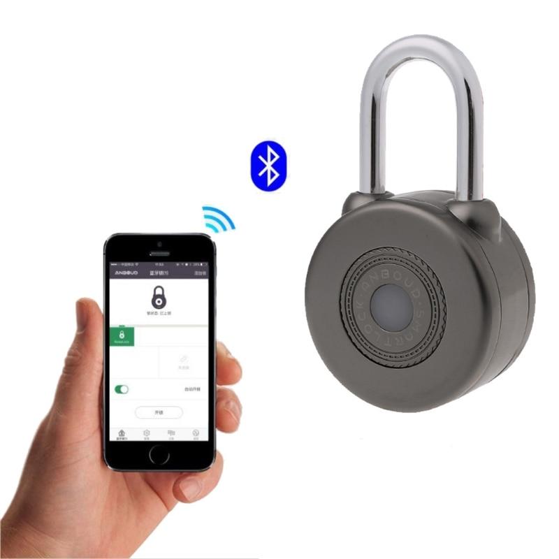 Elektronische Wireless Sperre Keyless Smart Bluetooth Vorhängeschloss Master Schlüssel Typ Lock mit APP Control für Bike Motorycle Hause Türschloss