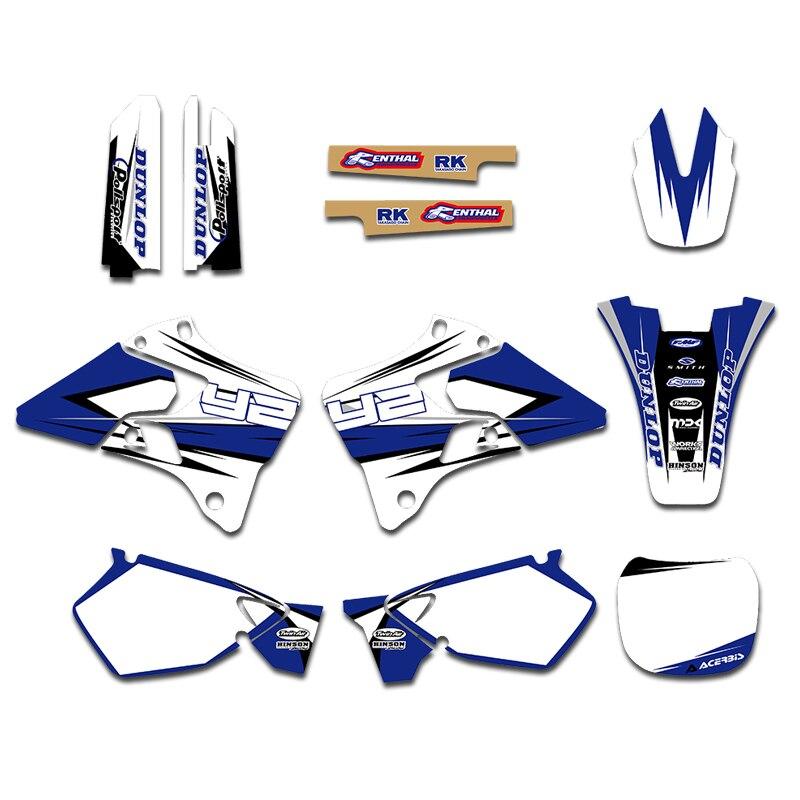 3 m gráficos decalque adesivos kits para yamaha yz125 yz250 yz 125 250 1996 1997 1998 1999 2000 2001 acessórios da motocicleta peças