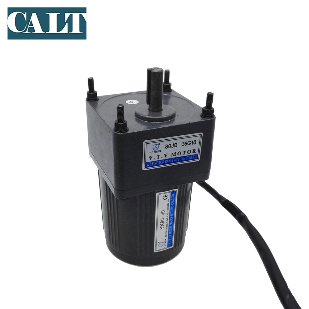 220V VTV YN80-40  AC small 3 wires gear motor  1:50 reduction ratio ouput speed 30rpm single phase motor  40W enlarge