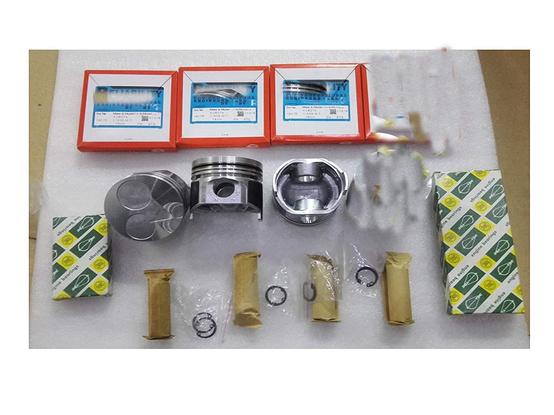 Para Bobcats excavadora D1105T D1105 junta de CABEZA + pistón + anillo + rodamiento