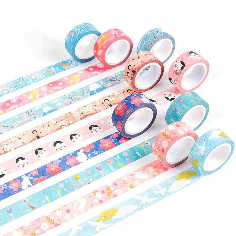 Kyoto Festival Decorative Masking Washi Tapes Adhesive Tape DIY Scrapbooking Sticker Label Masking Tape