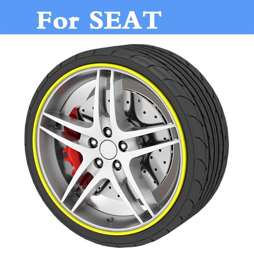 Estilo de coche neumático llanta con reborde protector rueda pegatinas de para asiento Córdoba Exeo Ibiza Cupra León Cupra Mii Toledo