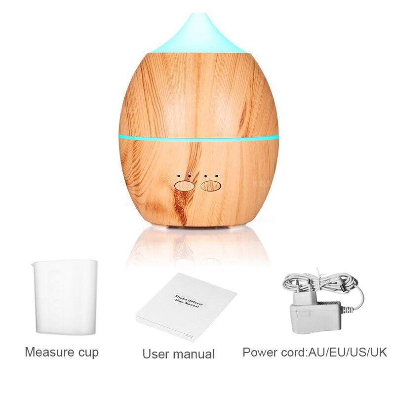 Diffuseur dhuiles essentielles et darôme de Grain de bois, humidificateur ultrasonique à brume fraîche pour le bureau et la maison, 300ml