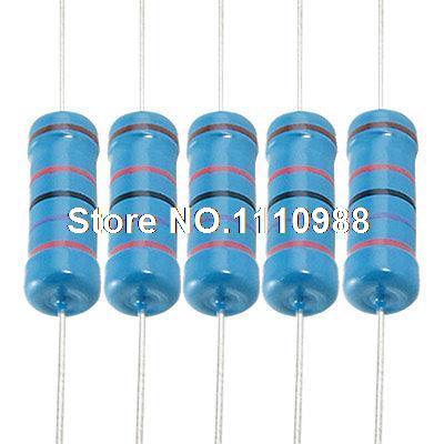 100 Uds 3 W 27K Ohm, Axial resistencia de película de Metal de 3 vatios 1%