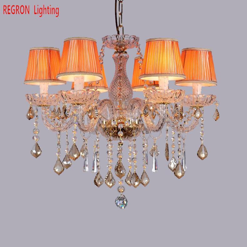 Mini lámpara de araña de iluminación de boda, luces de brillo led para dormitorio, vestidor, sala de estar, lámpara de cubierta de tela, candelabros de cristal