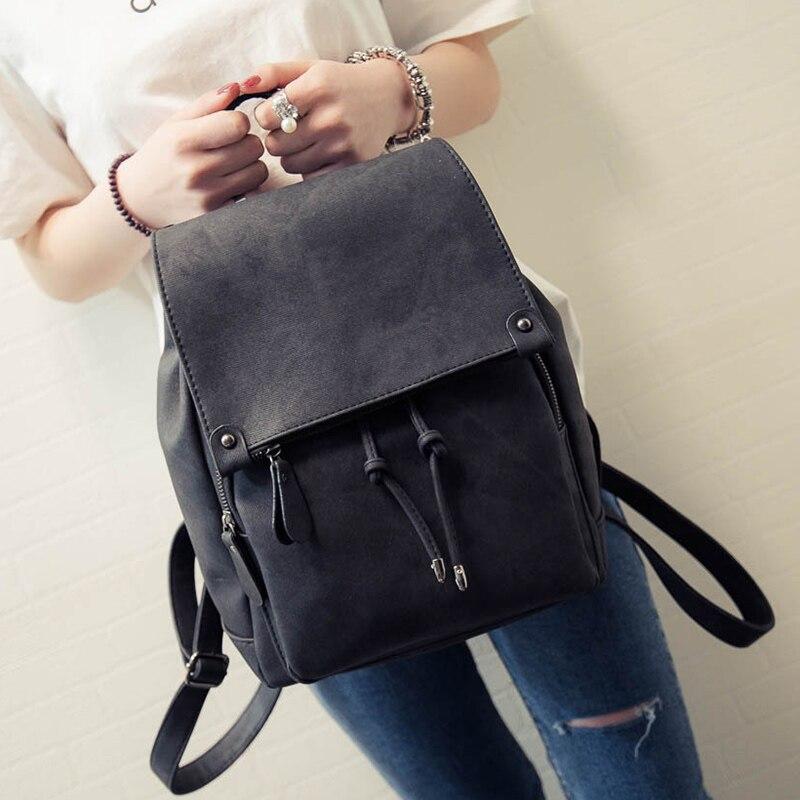 2020 New Arrival Summer Women Backpacks Canvas College Bags For Teenage Girls Ladies' Travel Backpack Black Pink School Bags