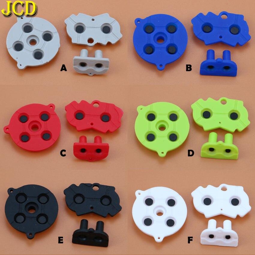 JCD 1 набор Красочный резиновый проводящий кнопки A-B D-pad для Navy GameBoy Advance GBA Силиконовый Проводящий Пуск выберите клавиатуру