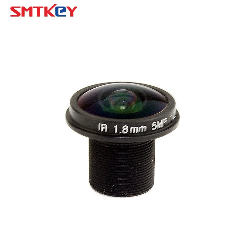 SMTKEY panorámica M12 HD 5MP 1,8mm de ojo de pez de la lente CCTV
