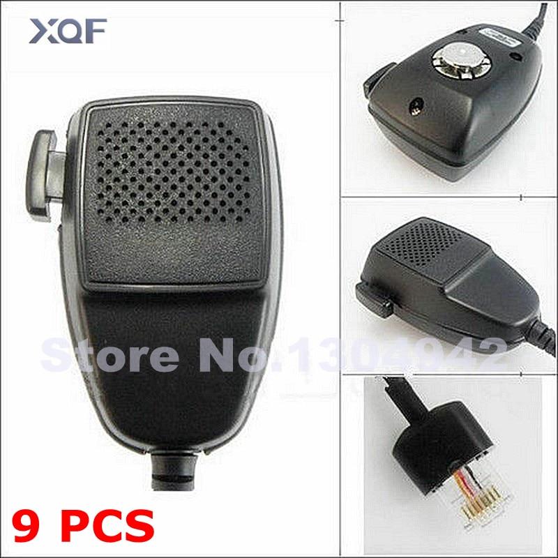 Micrófono con altavoz de 9 UDS y 8 pines para Motorola Radio walkie talkie GM300 GM338 GM950 Radio móvil para coche HMN3596A