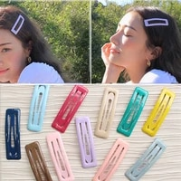 women 1pc beautiful hot sale unique girls gifts bb hair clip candy color seaside 2019 new arrival korean 12 colors allergy free